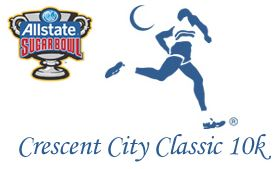 New Orleans Allstate Sugar Bowl Crescent City Classic 10k 2013 Logo