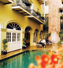 French Quarter courtyard at Bienville House