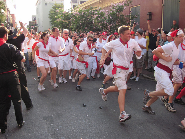 San Fermin in Nueva Orleans: Running of the Bulls, With A New Orleans Twist