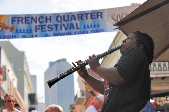 musician french quarter fest