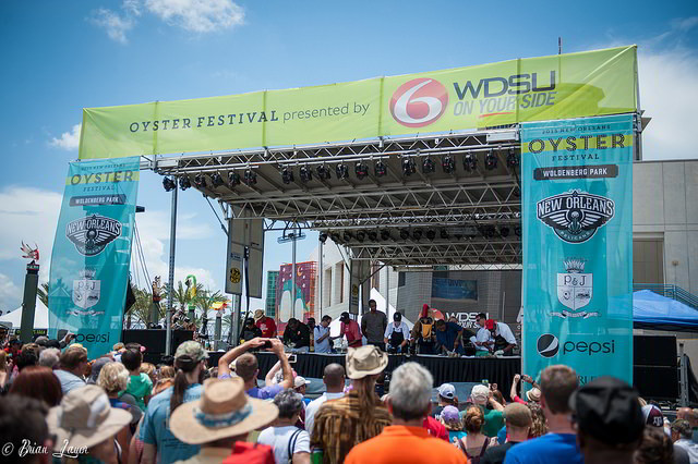 The New Orleans Oyster Festival features live music, an oyster shucking competition and plenty of food. (Photo: Brian Lauer, via Flickr)