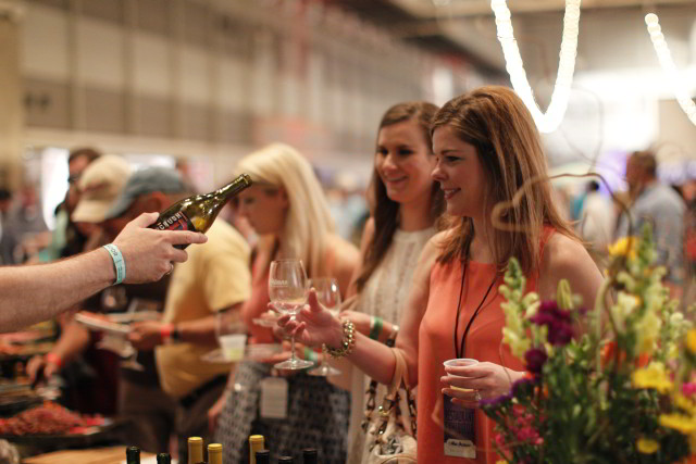 The Grand Tasting at New Orleans Wine & Food Experience showcases more than 1000 wines alongside delicious foods from over 75 New Orleans restaurants. (Photo courtesy NOWFE)