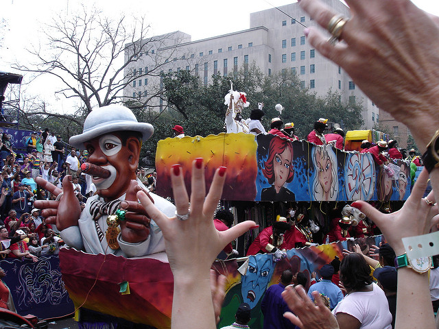 The Carnival season culminates on Fat Tuesday when the Krewe of Zulu kicks things off. (Photo courtesy Flickr user travelbigo)