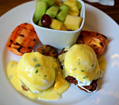 Criollo Restaurant serves up a daily Eggs Benedict special that locals love.
