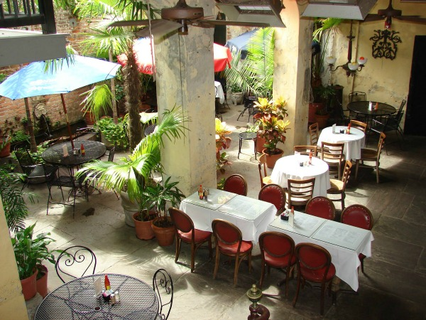 The courtyard at Napoleon House is ideal for lunch. (Photo via Napoleon House on Facebook)