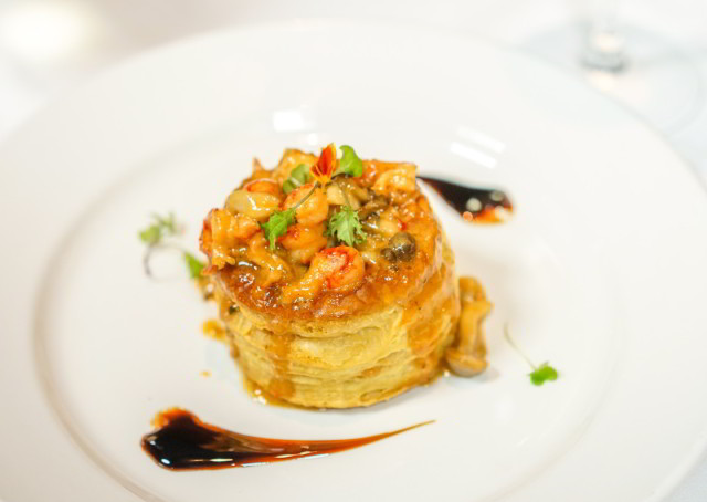 Crawfish Vol Au Vent at Criollo Restaurant inside Hotel Monteleone in New Orleans French Quarter