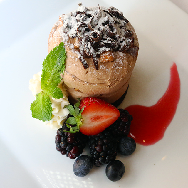 Choose from two delicious desserts on Criollo's COOLinary menu, including our Mile High Chocolate Parfait.